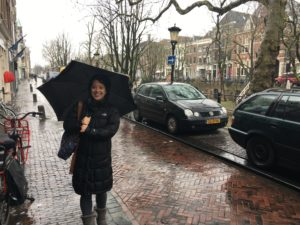 Utrecht on a rainy day with the family