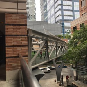 Bridge from Hyatt Regency to Din Tai Fung