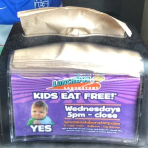 Kids eat Free at Lunchbox Laboratory on Wednesday