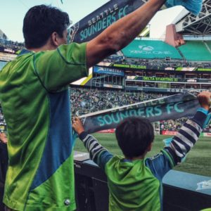 Seattle with kids Pitchside at a Sounders Game