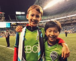 Seattle with Kids Pitchside wit the Sounders