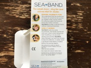 Sea Bands packaging