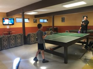 Games room at Thousand Trails Leavenworth