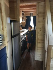 Kitchen in Tiny Home Otto in Leavenworth